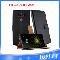 New Luxury Flip Cover Stand Wallet PU Leather Case For LG G5 Mobile Phones