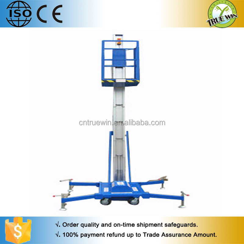 Shandong lift machinery Single or double masts telescopic lift aluminium alloy lift