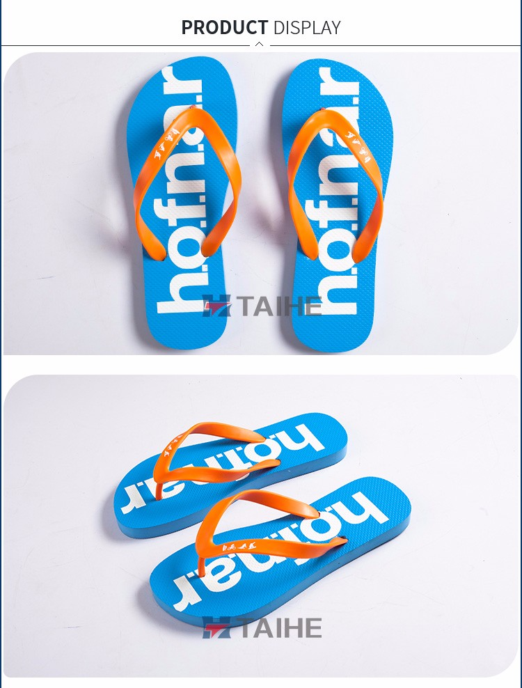 custom printed summer high quality rubber flip flops slipper manufacturer