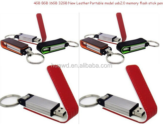 Cheap usb flash drives wholesale 8gb leather usb 2.0 flash stick