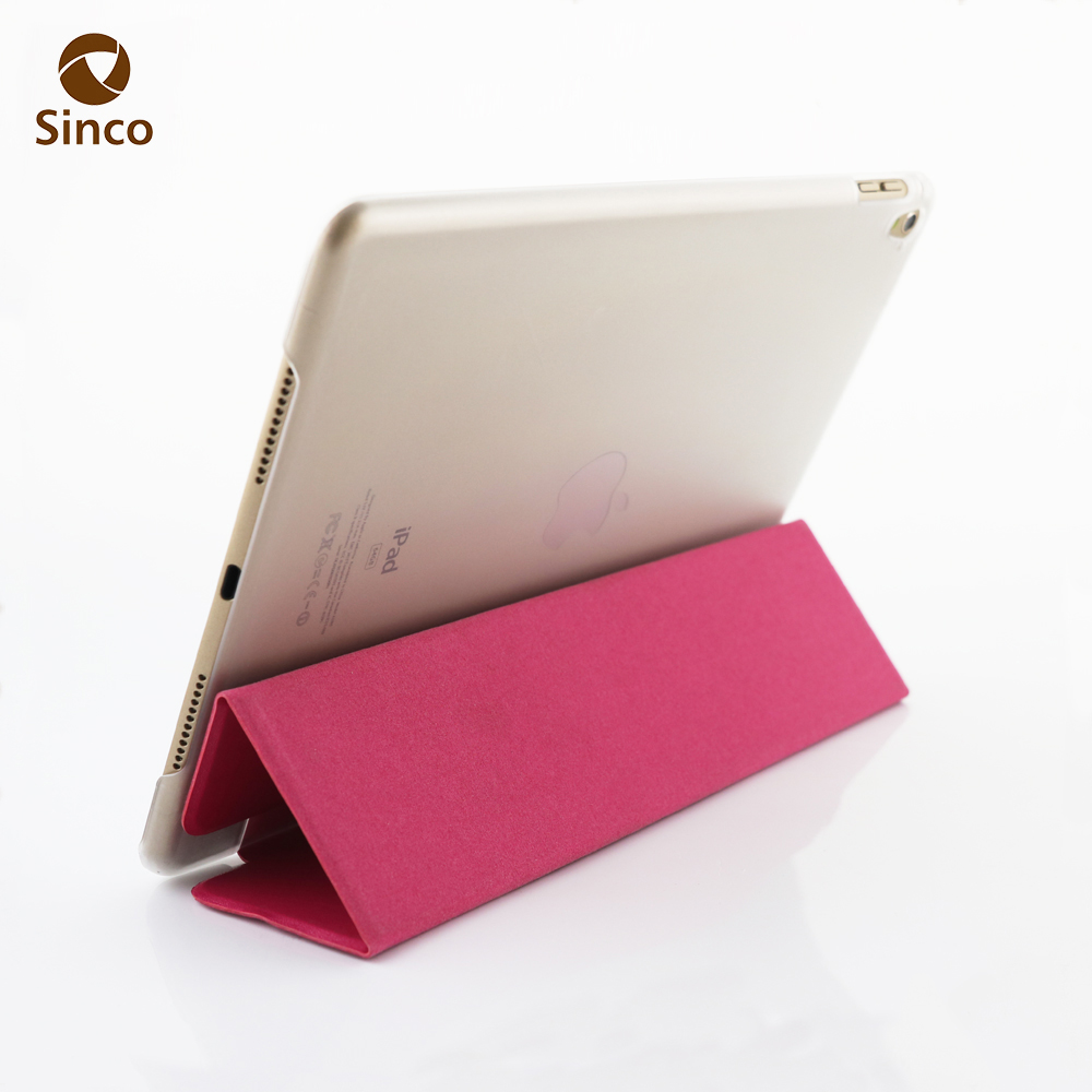 Factory supply sublimation PU leather 3 fold case for iPAD