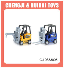 Cheaper metal pull back toy car small diecast forklift
