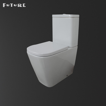Washdown Ceramic Small Size Bowl Wc Wash Down Toilet Two Piece Wc