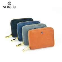 OEM Fancy Waterproof PU Zipper Small Wallet Purse With Power Bank