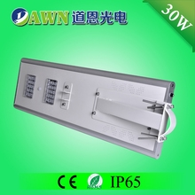 30W intelligent easy install integrated all in one solar LED street light vertical wind tunnel light pool and fountain