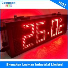 time and date display alarm clock solar led traffic sign