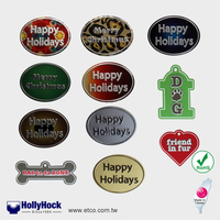 High Quality Customized Matte Finish Multi Color Metal Crafts PET Nameplate