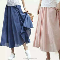 ladies candy color chiffon skirt