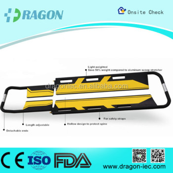 DW-SC007 High Quality Folding Carbon Fiber Scoop Stretcher for Sale