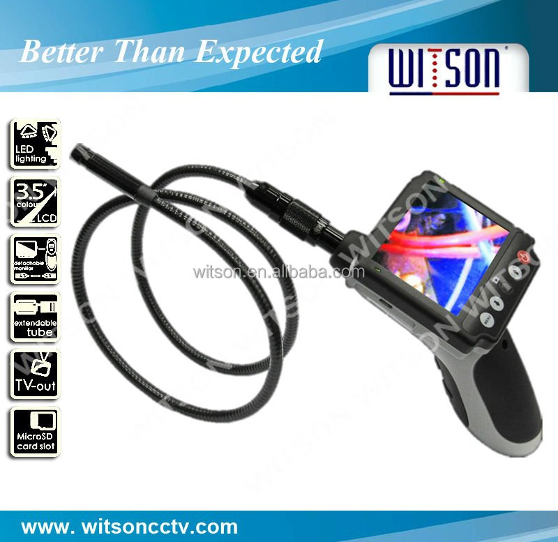Witson borescope equipment equipped with 3.5'' fixed monitor for viewing,3m extension cable for optional(W3-CMP3812DX)