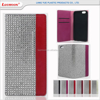 contrast color diamond studded cell phone bumper and cover case for huawei p8 lite