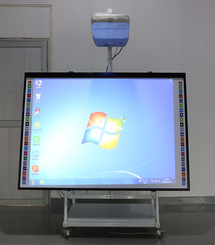 "55"" 60"" 75"" 84""98""102"" Touch Screen Whiteboard With Stand For Kids"