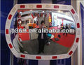 elliptical reflective convex mirror