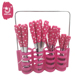 24pcs Stainless Steel Plastic Handle Cutlery Set