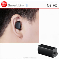 Mini Smallest Bluetooth 4.1 Sport In-Ear Earbud Headset with Mic and Portable Charging Case.