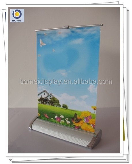 Advertising equipment, mini roll up banner, desktop roll up display