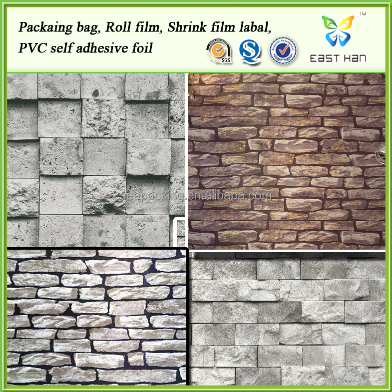 home decor 3D design Brick Rock vinyl wallpaper produced by factory with great price
