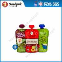 150g stand up doypack bag with spout for drink,beverage,liquid stand up nozzle pouch,custom printing baby food pouch
