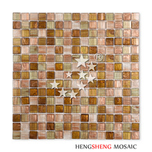 LS17 Golden Line Glass 4mm Thickness Mosaic Tile for Swimming Pool SPA Bathroom