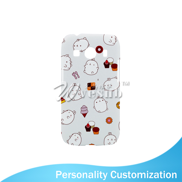 Decorative Guangzhou 3D Sublimation Printing Blank 4 Inch Glossy White Plastic Customize Mobile Phone Cover For Samsung ACE4