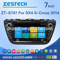 1 din 7 inch car dvd player for SUZUKI SX4 S-CROSS 2014 car accessories with rearview camera