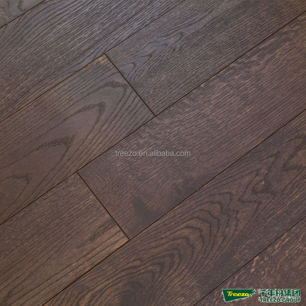 brushed oak engineered wood flooring wire drawing