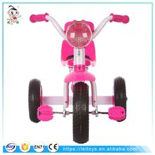 Fashionable kids ride on manual pedal car / baby tricycle with music and colorful light