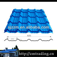 Pre-painted galvanized sheet metal roofing antique metal roof tiles