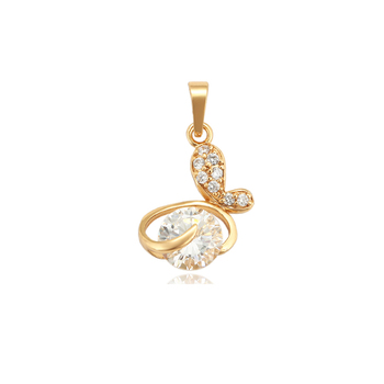 33836 xuping 18k gold plated unique design temperamental butterfly crystal pendant
