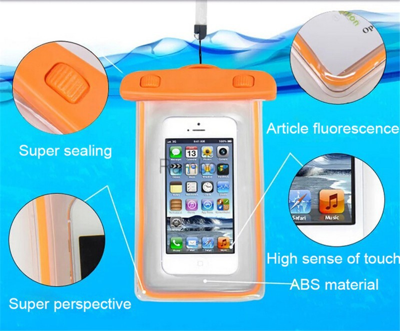 6 inch Transparent Waterproof Diving Bag Case Cover Underwater Pouch for Samsung Galaxy S4/S5/S6/S6 Edge/Note 4/Note 3/Note 2