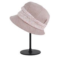 Wholesale ladies women fancy good design white sinamay church hat
