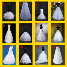 new hot white 6 hoops Crinoline Underskirt Petticoat For Wedding Dress Ball Gown