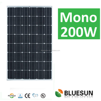 TUV CE ISO UL certificates best quality mono 200wp pv solar modules/flexible solar panel 200w 48cell 24v