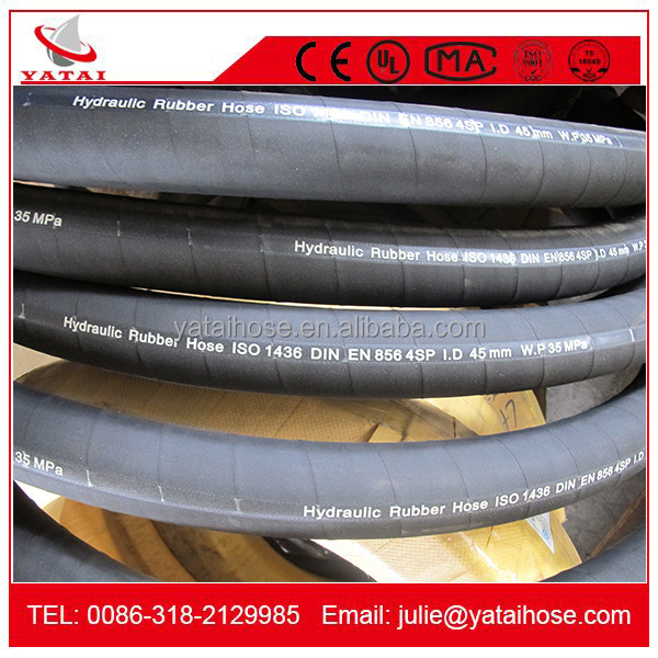 4SP High Tensile Hydraulic Rubber Hose Pipe for Oil and Liquid Based