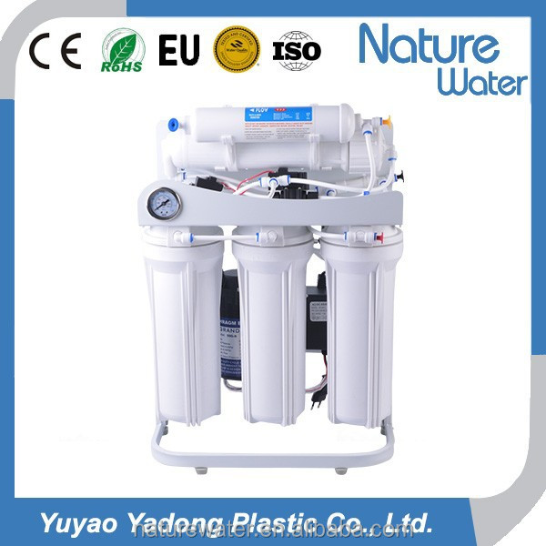 6 stage 10 inch double O ring housing auto flush Reverse Osmosis water purifier/water filter <strong>system</strong> with stand