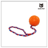 new hot sale high quality all kinds of soft rubber rope ball dog toy