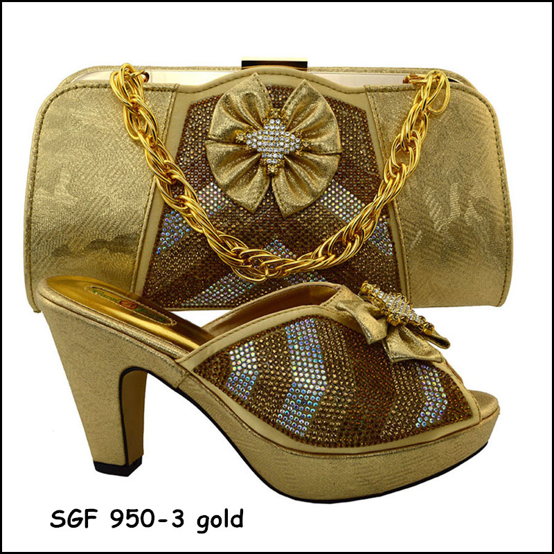 Bridal shoe and bag set ,African shoe and bag to match gold color