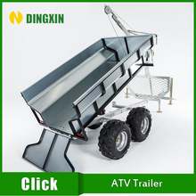 TT1000 Small Tipping ATV Timber trailer with crane