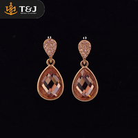 2016 New Fashion Gemstone Earring for Women Gold Jewelry 1 Dollar