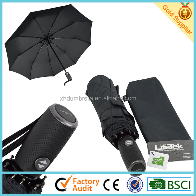 top quality windproof folding umbrella and compact umbrella for travel