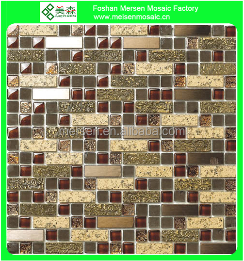 High quality fashion decorative crystal glass white stone mosaic tile SK204
