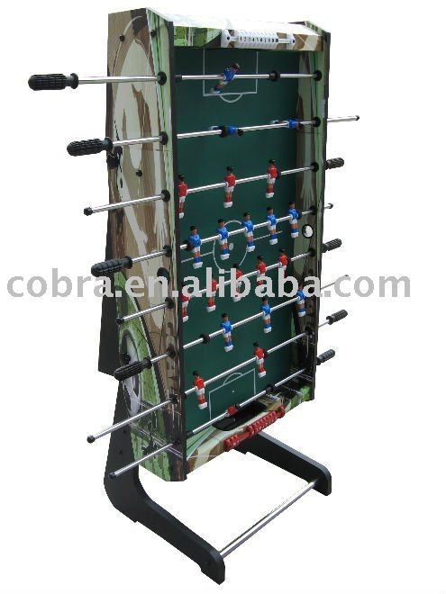 Pretty and attractive folding Foosball table with 31mm balls