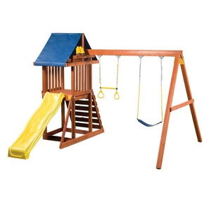 Big Elephant Play Wooden Residential Outdoor Amusement Park Equipment