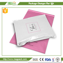Waterproof extra strong shopping poly pink mailing bag for gravure printing