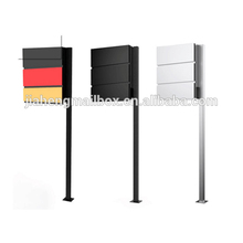 New Stainless Steel Waterproof Free Standing Mailbox With Two Poles