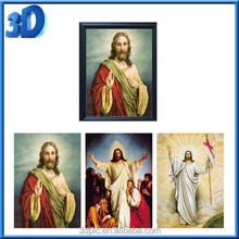 Hot 3 in 1 flip 3d lenticular printing painting pictures of god
