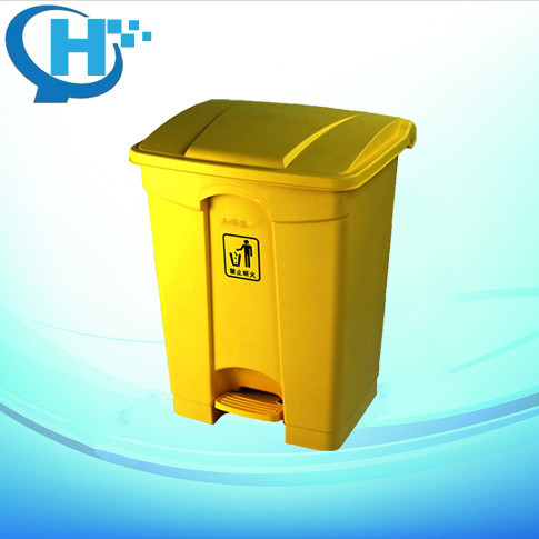 68L square plastic dustbin fireproof dustbin
