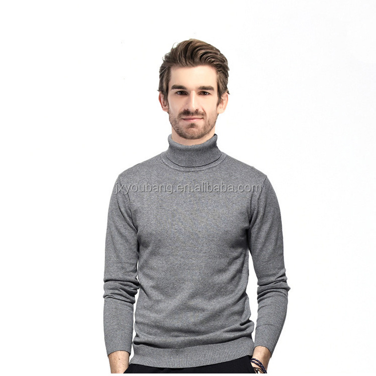 Fashionable casual stype turn down collar slim fit high quality man sweater