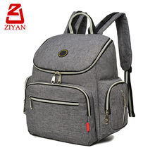 Multifunction anti theft back pocket mummy changing nappy bag baby backpack diaper bag with stroller straps