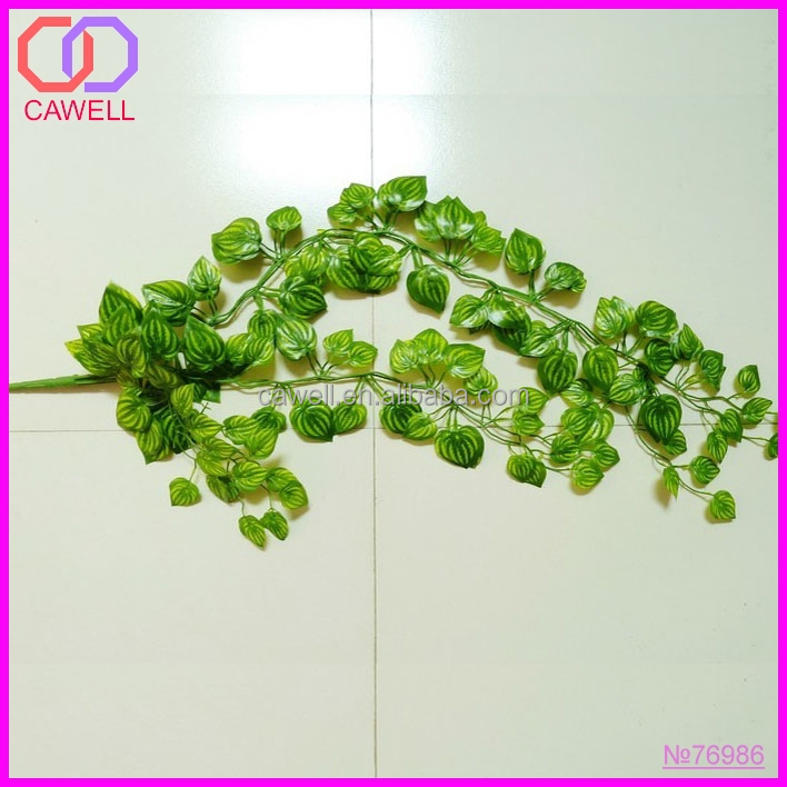 green artificial watermelon leaf string for wall decoration